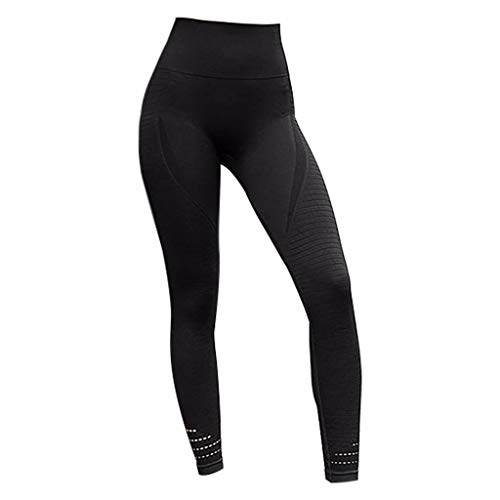 MTENG Women's Yoga Leggings Fitness Sports Exercise Running Jogging Workout Running Yoga Athletic Pants(Black,M) ()