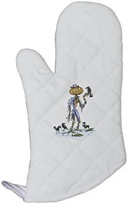 Scarecrow With A Pumpkin Head Kitchen Bar Oven Mitt