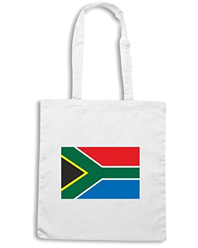 Borsa Speed TM0243 AFRICA Bianca Shopper SOUTH FLAG Shirt A48pqZ