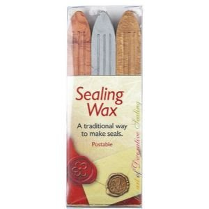 6 Pack SEALING WAX PK/3 GLD SILVER BRNZ Drafting, Engineering, Art (General Catalog)