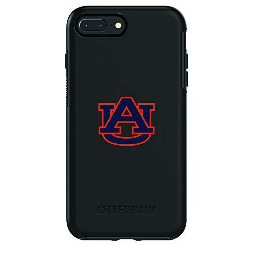 Fan Brander NCAA Black Phone case, Compatible with Apple iPhone 8 and Apple iPhone 7 and with OtterBox Symmetry Series (Auburn Tigers)