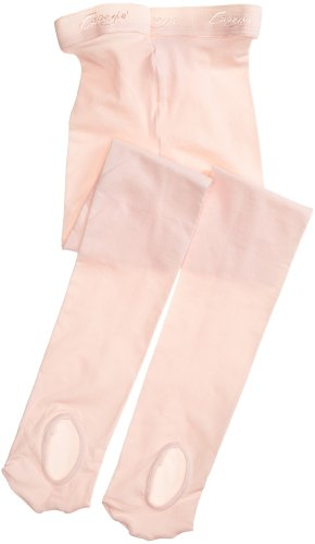 Capezio Little Girls' Ultra Soft Transition Tight, Ballet Pink, One Size (Kid 2-6)