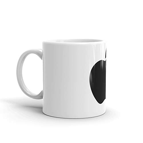 APPLE LOGO. 11 Oz Ceramic Coffee Mug Also Makes A Great Tea Cup With Its Large, Easy to Grip C-handle. 11 Oz Fine Ceramic Mug With Flawless Glaze Finish