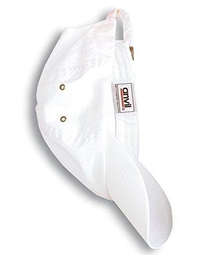 A Product of Anvil Adult Solid Low-Profile Twill Cap -Bulk Saving White