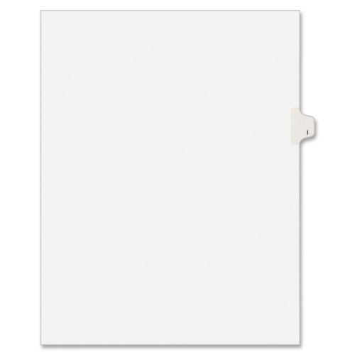 - Avery 01409 Exhibit Side Tab Divider, Printed: I, Letter Size, White, 25/Pack