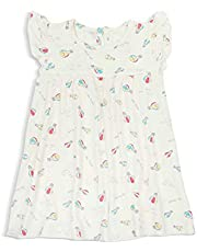 Simply Life Hypoallergenic Bamboo Dress with Frilled-sleeves, Hot Air Balloon, Neutral, 1 year