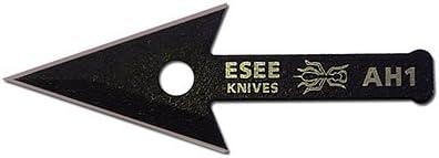 ESEE Knives AH1-ARROWHEAD-CS, Arrowhead Fixed Blade Survival Knife, 2 1 2 Spear Pt, Black