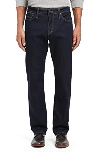 Mavi Mens Matt Relaxed Straight Leg Jeans, Deep Rinse Soft Move, 34W x 32L