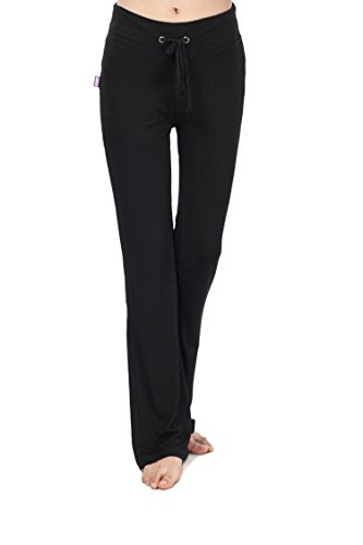 Women's bootleg sleek-fit yoga pants{XXL,Black}