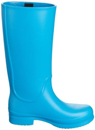 crocs Wellie Rain Boot W - Botas de agua de material sintético mujer azul - Blau (Ocean/Black 49S)