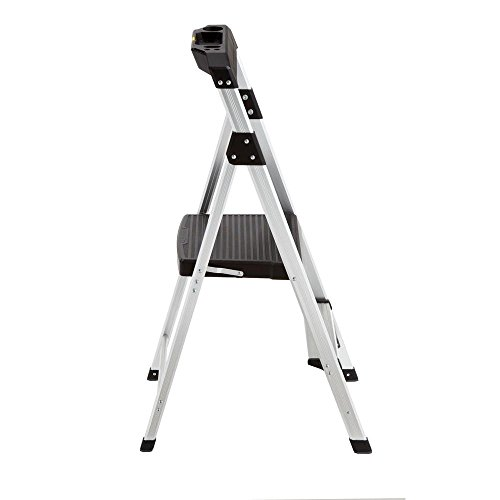 2-Step Aluminum Ultra-Light Step Stool Ladder with Project Tray Top and 225 lb. Capacity, ANSI Type 2 Duty Rating by Gorilla Ladders (Image #6)