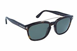 Tom Ford Sunglasses 0516 Holt 52R Dark Havana Green Polarized