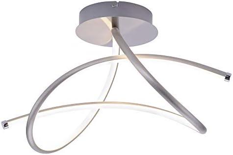 LED Decken Leuchte Schlaf Gäste Zimmer Strahler silber geschwungen Leuchten Direkt 15441-55