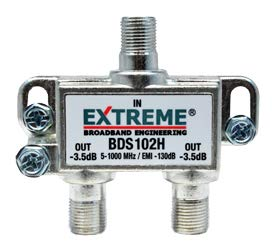 2 EXTREME DIGITAL COAX CABLE SPLITTER BDS102H