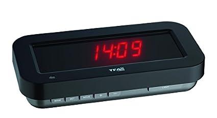TFA Reloj Digital LED Rojo con Efecto 3D holográfico