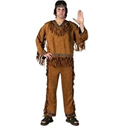 Fun World Men's Native American, Brown, STD. Up to 6' / 200 lbs