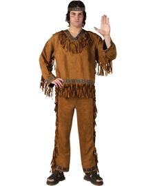 (Fun World Men's Native American, Brown, STD. Up to 6' / 200)