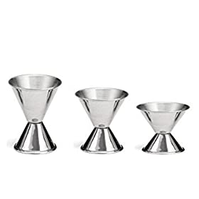 Tzipco's Double Cocktail Jigger, Set of 3