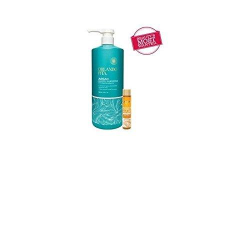 Orlando Pita Argan Gloss Shampoo 27oz With Bonus .7oz Argan Rejuvenating Hair Treatment Oil by - Orlando Mall