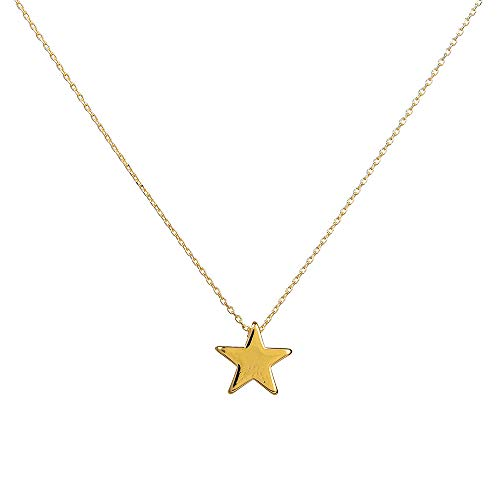 PAERAPAK Star Choker Necklace for Women - Delicate 14K Gold Filled Star Charm Choker Necklace Bar Layering Necklace Graduation Gifts for Her Bridesmaid Necklace