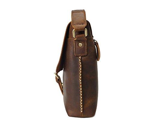 Brass Yqxr La Crazy Bandoulière Cuir En Main Bags Handbags De Couche Messenger Hommes Casual Horse Sac À amp; Première Shoulder Rétro w4qRSzrwx