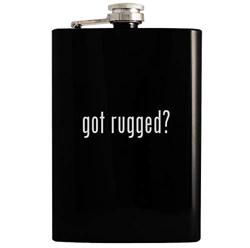 got rugged? - 8oz Hip Drinking Alcohol Flask, Black