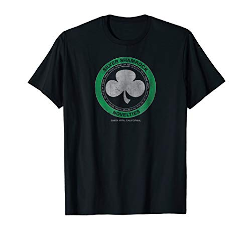 Kryptic Society: Vintage Silver Shamrock Halloween T-Shirt -