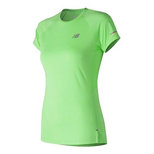 - New Balance Women's Ice 2E Short Sleeve Shirt, Green Flash, Medium