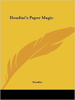 Descargar Torrents En Español Houdini's Paper Magic Formato PDF Kindle