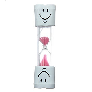 Zacr Kids Toothbrush Timer ~ 2 Minute Smiley Sand Timer for Brushing Children's Teeth (Pink)