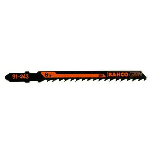 Bahco 91-434-5P T-Shank Jig Saw Blade 8 Teeth Per Inch, Tape