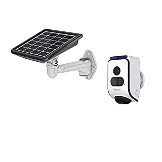 Solar Powered Wireless Home Security Camera Outdoor Rechargeable Battery Powered WiFi/1080P Video/2-way Audio/Night Vision/Siren Alarm/16GB SD Card Included
