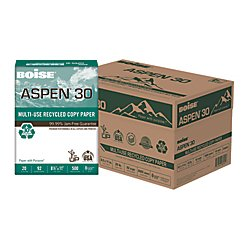 Boise Aspen 30% Recycled 8 1/2 x 11 Inch 20 lb White Office Paper 5,000 Count (Aspen 50 Office Paper)
