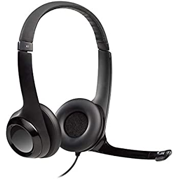 52eb6fd860f Amazon.com: Logitech USB Headset H390 with Noise Cancelling Mic ...