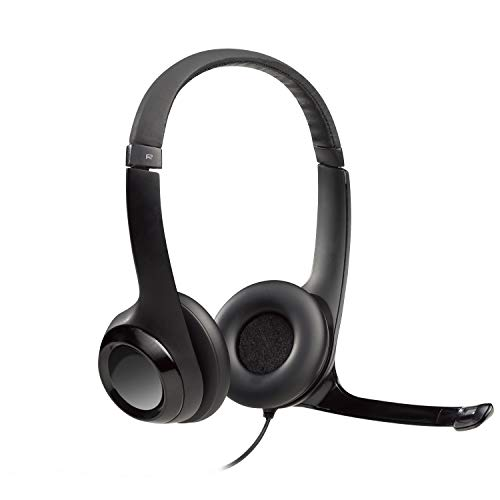 Headset Logitech H390 USB Preto - 981-000014