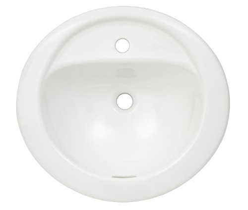 TOTO Lt521#01 Prominence 1-Hole Self Rimming Lavatory, Cotton - Sink Bathroom Cotton Prominence