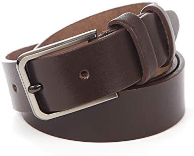 Dress Belt with Classic Single Prong Buckle Premium Mens Belts for Jeans Casual Mens Leather Belt Heavy Duty Genuine Full Grain Cowhide Leather Belts for Men Solid Leather Goods Mens Belt
