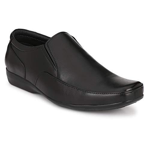 Stylelure Black Leather Formal Slip-On Shoes for Men/Best for Office Use