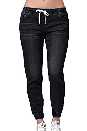Crayon Pantalons Femmes Slim avec Noir Jeune Bandage Trousers Long Fashion Simple Jeans Fashion Denim w5qf580g