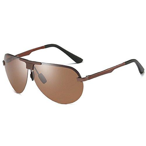 Beach piloto Gafas Gafas Color Brown Gafas One sol de de los Gafas de de Sra Polarizer hombres noche Gray size Gafas sol tamaño Conductor pescar de EqArRnaqT