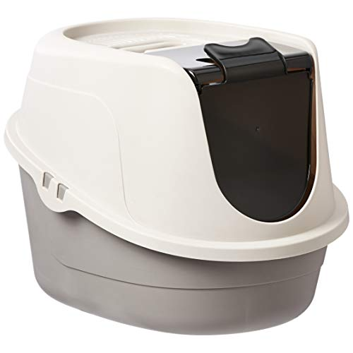 AmazonBasics Hooded Cat Litter Box, Standard ()
