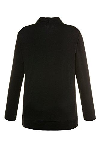 Kelchkragen Popken Mit nera 10 Shirt Ulla maniche schwarz Camicia lunghe a classica 0CqRZwZ