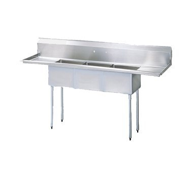 Turbo Air Three Compartment 90'' Sink