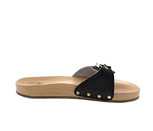 Flat Sabot Black Scholl PESCURA Sporty donna black wHEE0Fq7