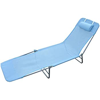 Amazon Com Outsunny Outdoor Folding Chaise Lounge Sun
