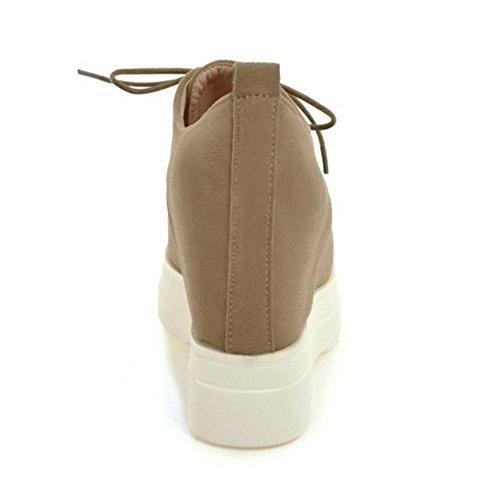 Zeppa COOLCEPT Moda Stivali Scarpe Khaki Donna Camoscio FxUwZzEx