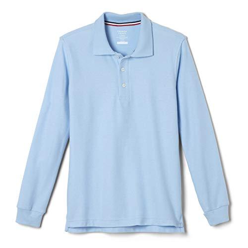 - French Toast  Boys' Long-Sleeve Pique Polo Shirt, Light Blue, Small/6-7,Little Boys