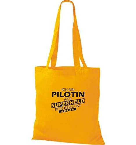 Mujer Tela Para Shirtstown Bolso Dorado Algodón De Amarillo qwS7XpA4