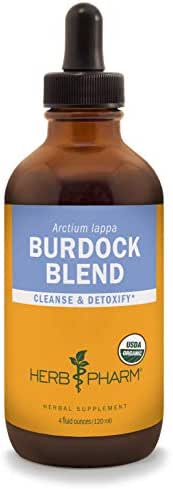 Herb Pharm Certified Organic Burdock Blend Liquid Extract to Support Cleansing & Detoxifying - 4 Ounce