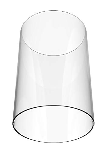 Amayan Clear Glass Cylinder Lampshade-Borosilicate Glass Height 14'' Diameter 4'' - Suitable for Wedding Decoration and Stage Props- Candle - (Multiple Specifications) by Amayan (Image #3)
